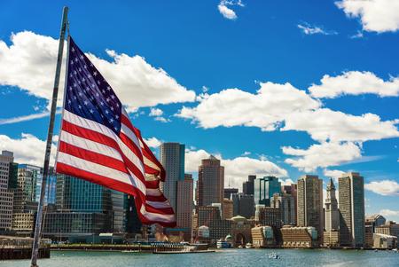 Boston w Flag