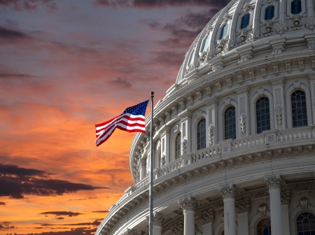 19806446 - sunset sky over the us capitol building dome in washington dc